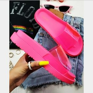 Make it Neon collection// neon pink slide